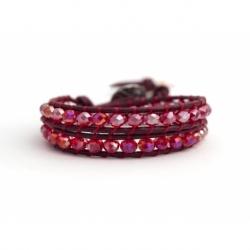 Bracciale donna cristalli rosso boreale