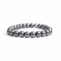 Grey Hematite Bead Bracelet For Man