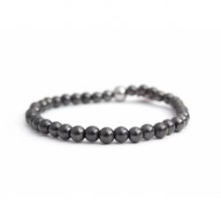Grey Hematite Bead Bracelet For Man