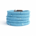 Azure Silk Rope Bracelet For Woman With Swarovski Strass