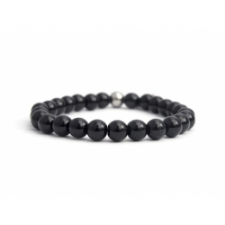 Onyx Bead Bracelet For Man