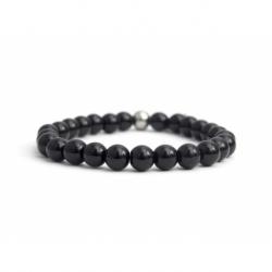 Onyx Bead Bracelet For Man