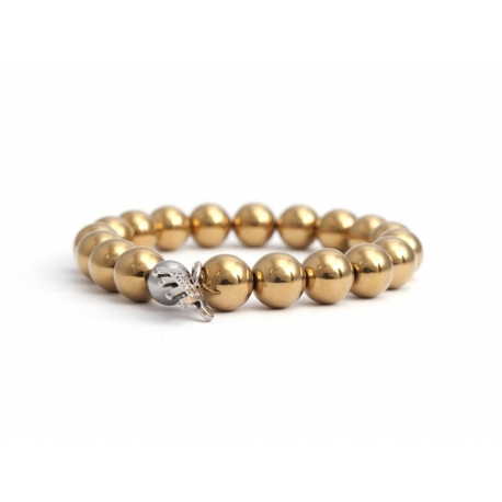 Gold Hematite Bead Bracelet For Woman