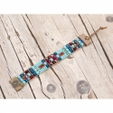 Blue Beads Loom Bracelets For Woman