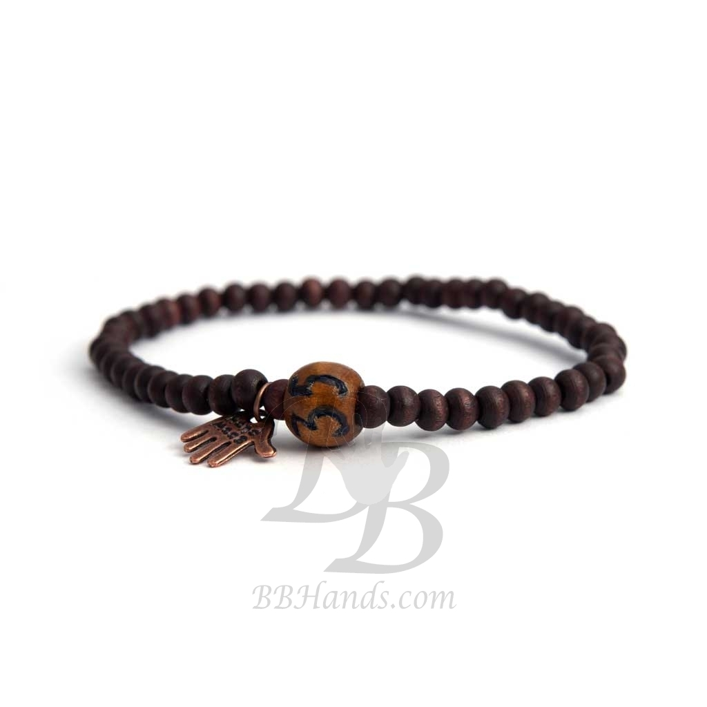 s number custom beads brown bracelet bracelets en wood man with