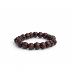 Dark Brown Wood Beads Bracelet
