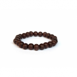 Dark Brown Wood Very Little Beads Bracelet