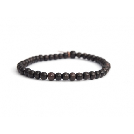 Dark Brown Wood Little Beads Bracelet