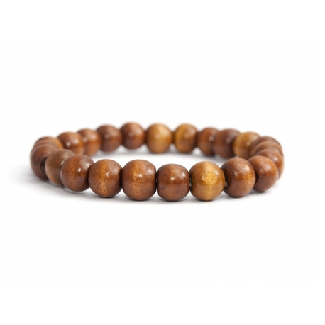 Honey Wood Big Beads Bracelet For Man