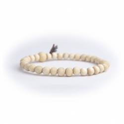 White Wood Very Little Beads Bracelet For Man