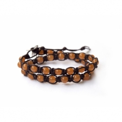 Peach Aventurine Tibetan Bracelet