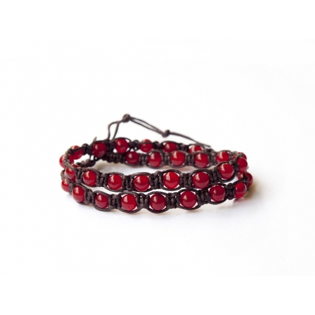 Red Agate Tibetan Bracelet