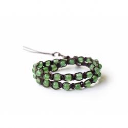 Green Agate Tibetan Bracelet
