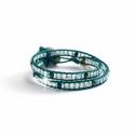 Iris Green Crystal Ab Swarovski Beaded Wrap Bracelet For Women