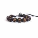 Tiger Eye Beaded Tibetan Bracelet For Woman