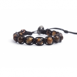 Tiger Eye Beaded Tibetan Bracelet For Man
