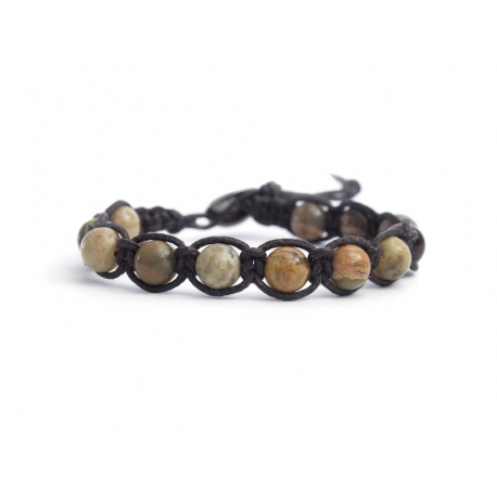Gray Magnesite Tibetan Bracelet For Man