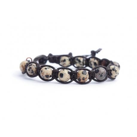 Dalmatian Jasper Tibetan Bracelet For Woman