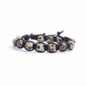Dalmatian Jasper Tibetan Bracelet For Man