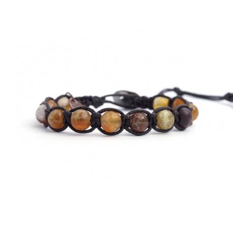 Amber Agate Tibetan Bracelet For Man