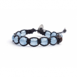 Large Angelite Beads Tibetan Bracelet For Man