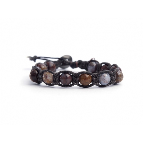 Piersite Beaded Tibetan Bracelet For Man