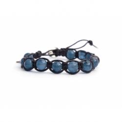 Bracciale tibetano donna fluorite blu