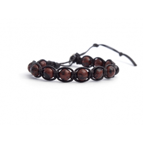 Mahogany Obsidian Tibetan Bracelet For Man