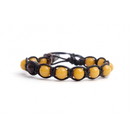 Yellow Jade Tibetan Bracelet For Man