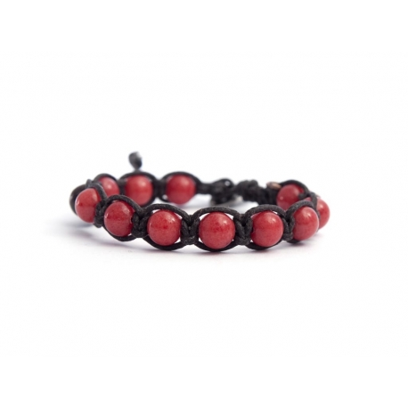 Coral Jade Tibetan Bracelet For Man