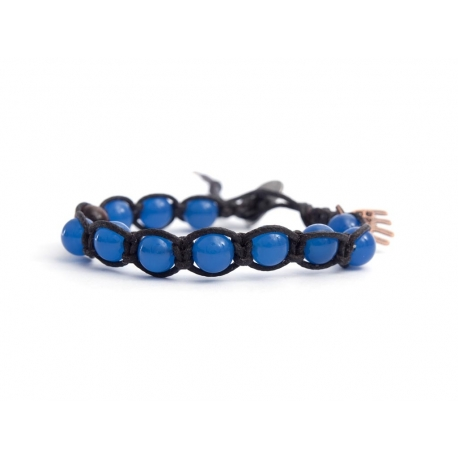 Blue Magnesite Tibetan Bracelet For Woman