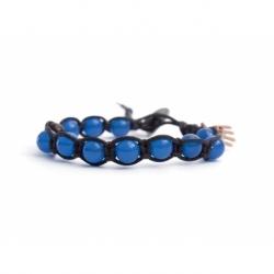 Bracciale tibetano uomo onice blu