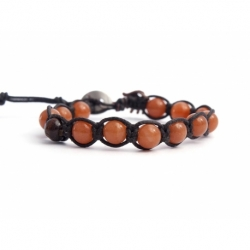 Peach Aventurine Tibetan Bracelet For Man