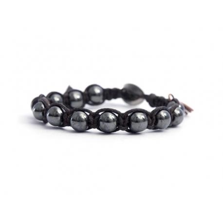 Grey Hematite Tibetan Bracelet For Man