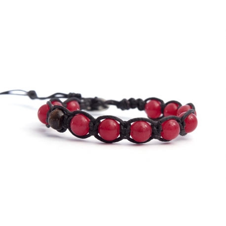 Cherry Agate Tibetan Bracelet For Woman