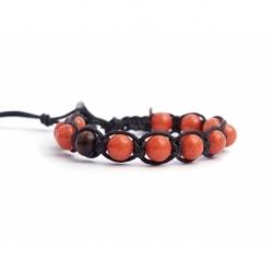 Bracciale tibetano uomo giada arancio