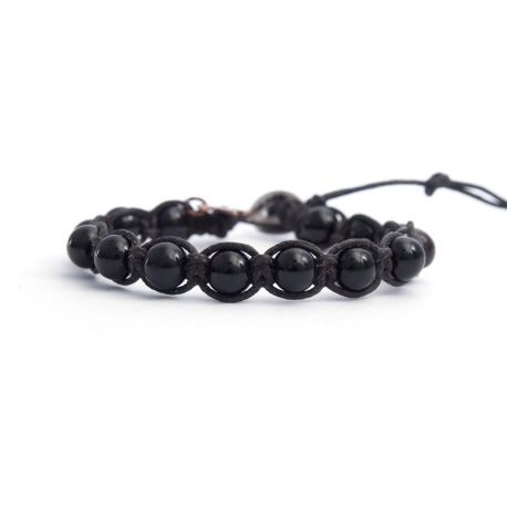 Black Onyx Tibetan Bracelet For Woman