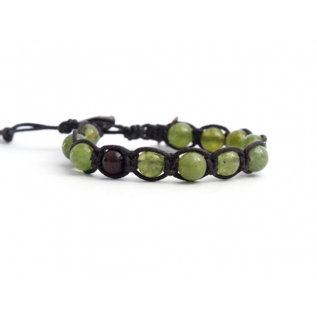 Light Green Aventurine Tibetan Bracelet For Man