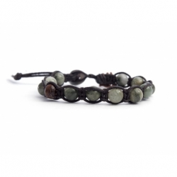 Moss Green Agate Tibetan Bracelet For Woman