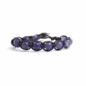 Striped Amethyst Tibetan Bracelet For Woman