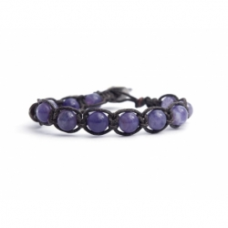 Striped Amethyst Tibetan Bracelet For Man
