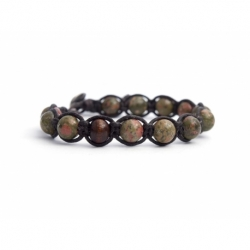 Unakite Tibetan Bracelet For Man