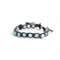 Angelite Beads Tibetan Bracelet For Woman