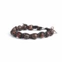 Black Jasper Polychrome Tibetan Bracelet For Man