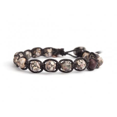 Brecciated Jasper Beaded Tibetan Bracelet