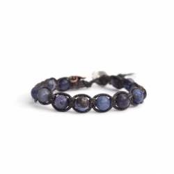 Purple Magnesite Tibetan Bracelet For Man