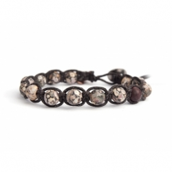 Brecciated Jasper Beaded Tibetan Bracelet For Woman