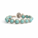 Turquoise Paste Tibetan Bracelet For Woman