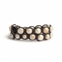 Round Pink River Pearls Tibetan Bracelet For Woman
