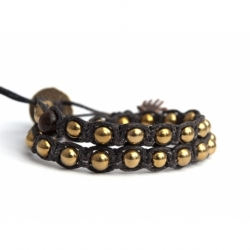 Gold Hematite Tibetan Bracelet For Woman